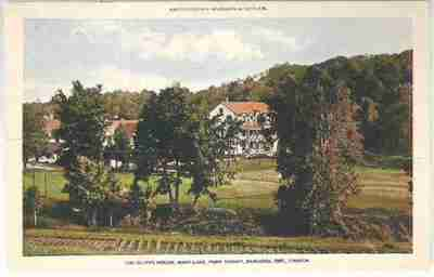 An old postcard featuring Clyffe House